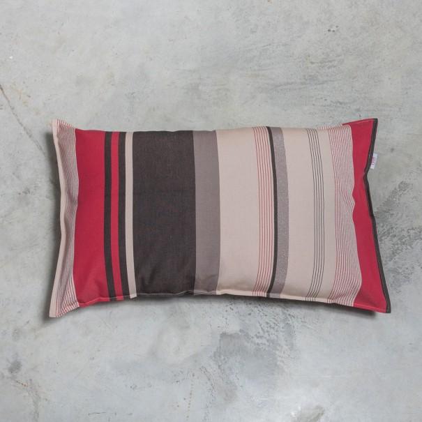 housse et ou coussin basque johana rayure noire bordeaux. Black Bedroom Furniture Sets. Home Design Ideas