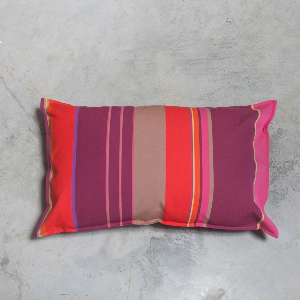 coussin rectangulaire basque Oneka rayure