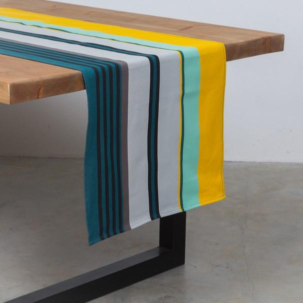 Chemin de table toile enduite