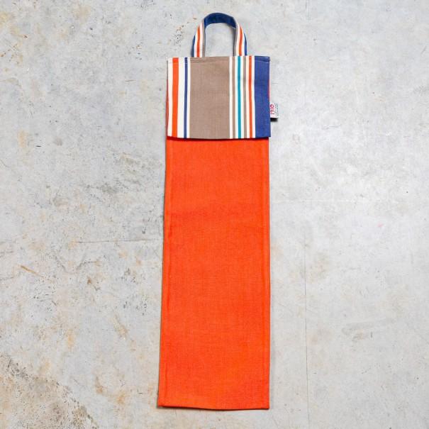 Orange cotton bread bags