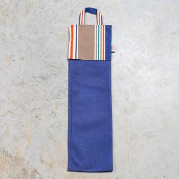 Blue cotton bread bags